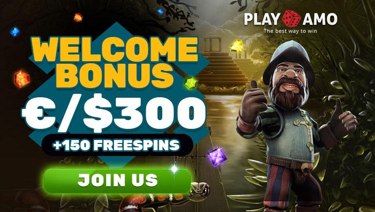 Playamo Casino - ВСТУПНИЙ БОНУС $100 Код: FIRSTDEP 100% Відповідний бонус Мін. депозит: $20 +БОНУС БЕЗКОШТОВНИХ СПІНІВ 150 Бонус Безкоштовні Слоти