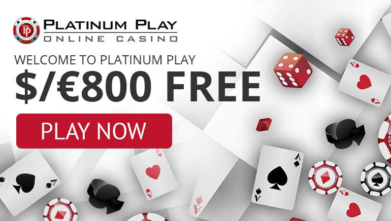 Platinum Play Casino - ВСТУПНИЙ БОНУС $200 100% Відповідний бонус (Мін. депозит: $10) + ПАКЕТ БОНУСІВ $1000 3 Депозити