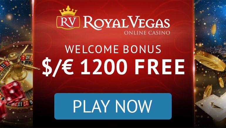 Royal Vegas казино - ПАКЕТ БОНУСІВ $1200