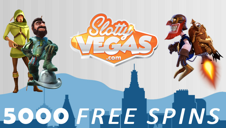 5000 Безкоштовних спінів для Фанів сторінки Slotty Vegas у Facebook.